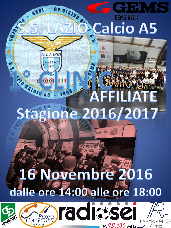 A grande richiesta tornano i Clinic della Lazio: il 16 novembre il primo appuntamento